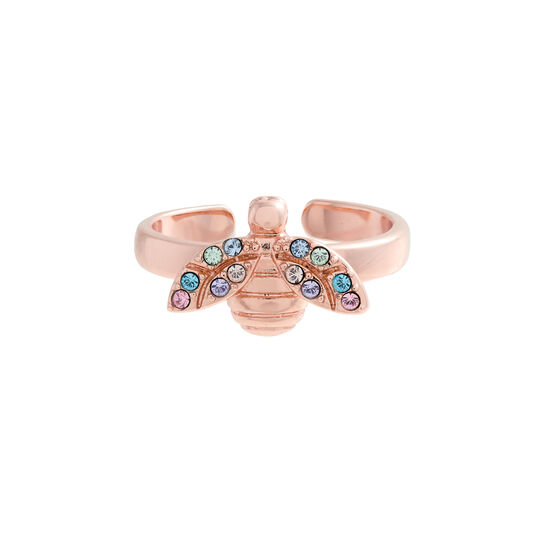 Rainbow Bee Rose Gold Ring