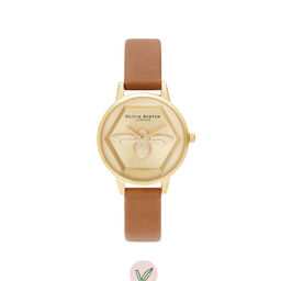 Charity Bee Watch Vegan Honey Tan & Gold