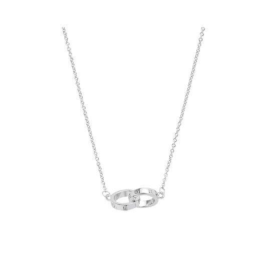 Interlink Silver Necklace