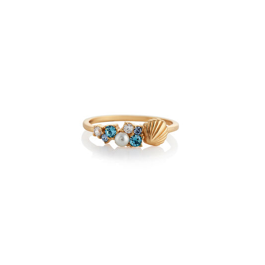Under The Sea Shell Gold Ring S
