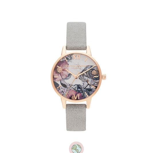 Eco Friendly Grey & Rose Gold Watch