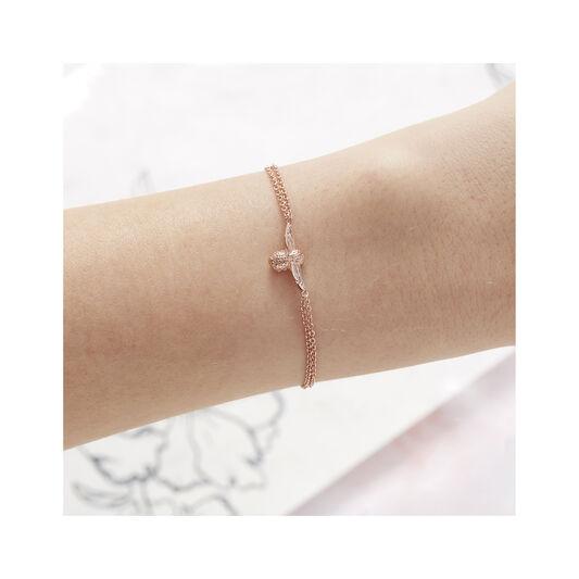 3D Bee Rose Gold Bracelet