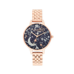 Ramadan Navy & Rose Gold Watch