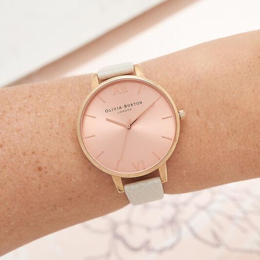 Vegan Friendly Cream & Rose Gold Watch