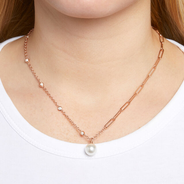 Pearl & Rose Gold Necklace
