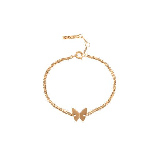 Social Butterfly Chain Bracelet Gold
