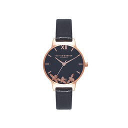 Busy Bee Black & Rose Gold Watch