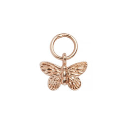 Butterfly Huggie Charm Rose Gold
