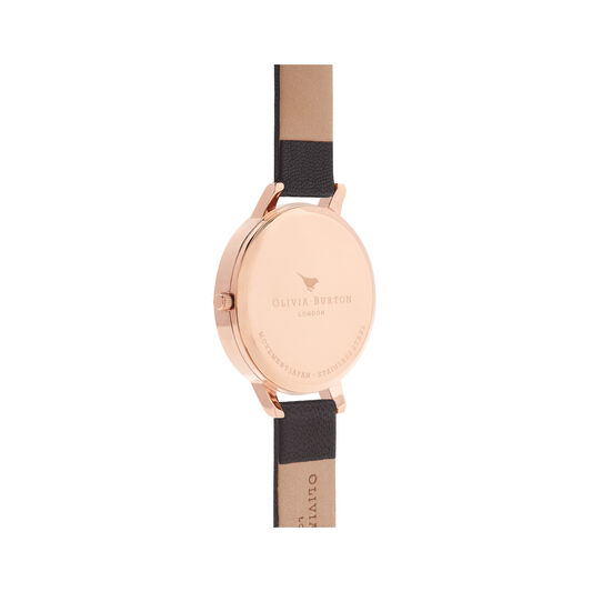 Big Dial Black & Rose Gold Watch