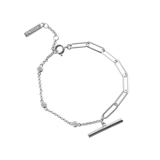 Classic Mismatch Tbar Silver Bracelet