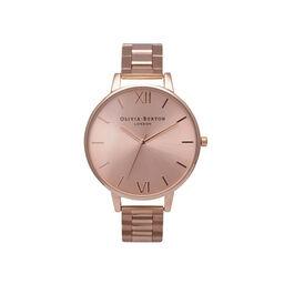 Big Dial Bracelet Rose Gold Watch