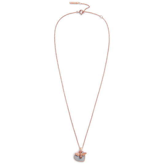 You Have My Heart Necklace Grey & Rose Gold