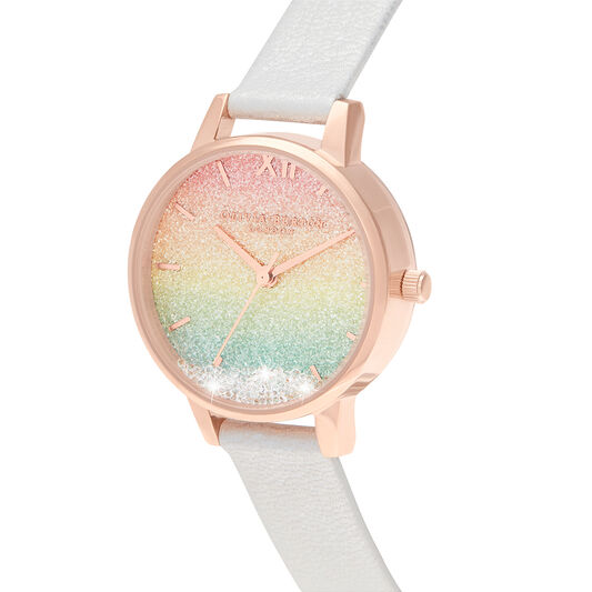 Rainbow Wishing Watch Midi Dial Pearl & Rose Gold Watch