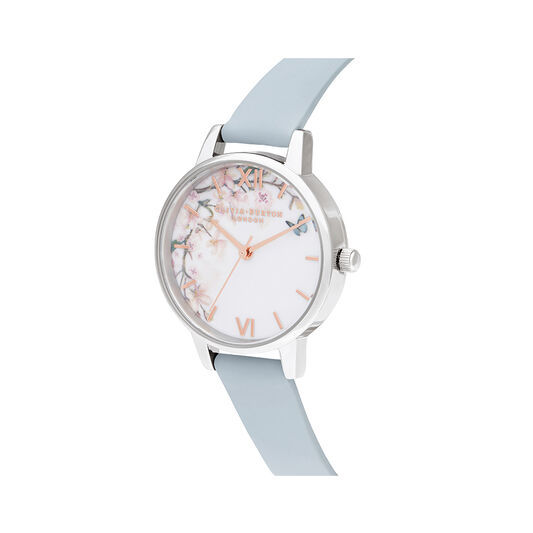Pretty Blossom Blue & Silver Watch
