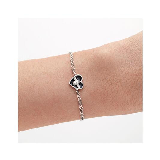 Love Bug Black & Silver Bracelet