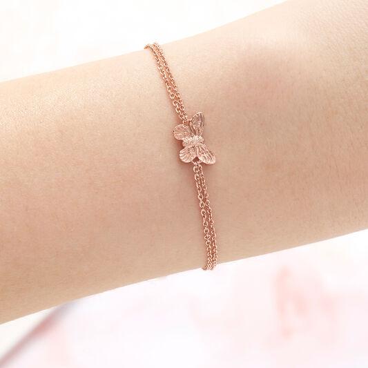 3D Butterfly Rose Gold Bracelet