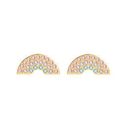Rainbow Gold Studs