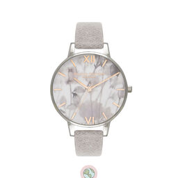 Eco Friendly Grey Lilac, Silver Watch
