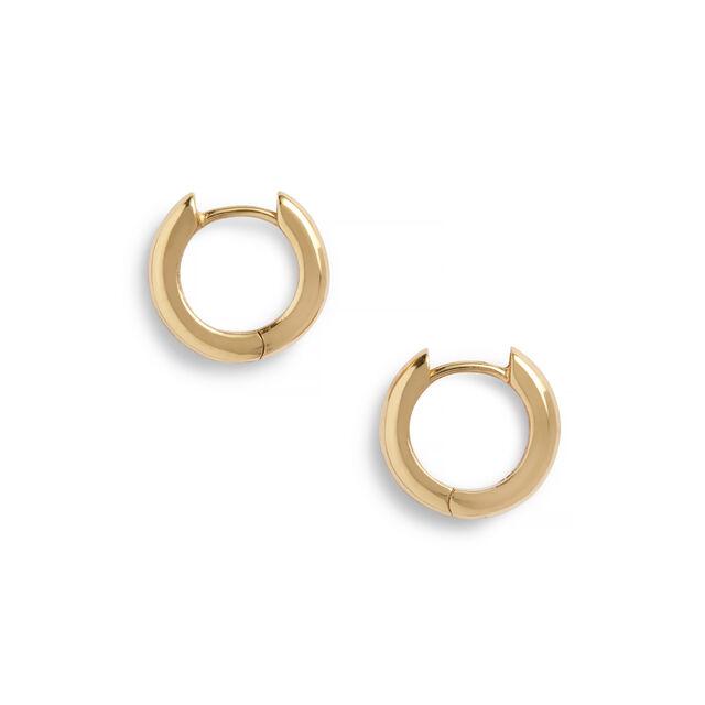 Gold Huggie Hoop Earrings