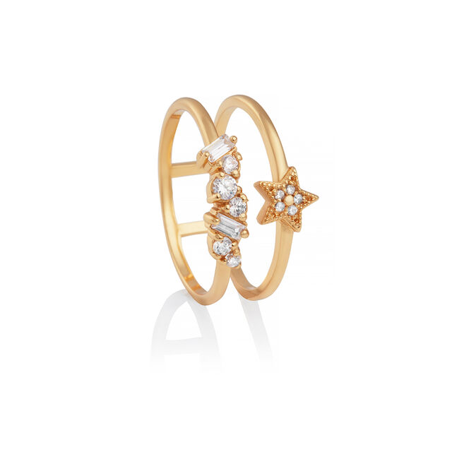 Celestial Double Band Ring Gold L