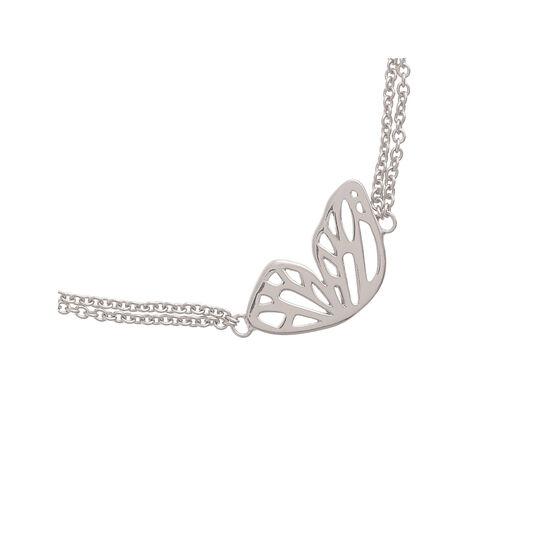 Butterfly Wing Chain Bracelet Silver