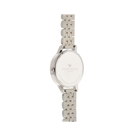 White Dial Silver & Gold Bracelet Watch
