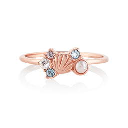 Sparkle Shell Rose Gold Ring (S)