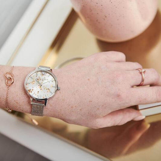 Montre Celestial à cadran Demi et bracelet milanais à boucle