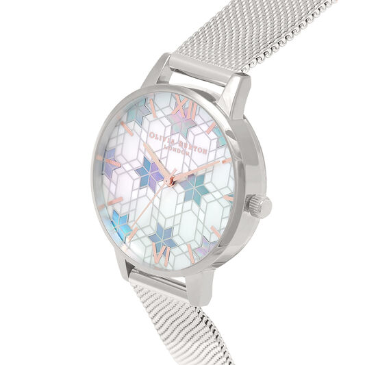 Demi Dial Silver Mesh & Rose Gold Watch