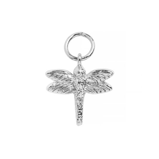 Silver Dragonfly Huggie Charm