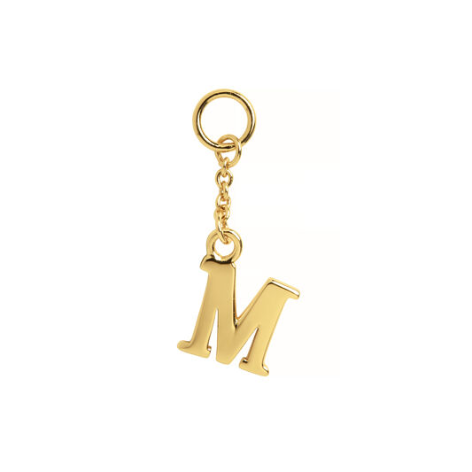 M Huggie Charm Gold