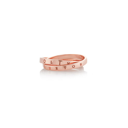 Classics Interlink Rose Gold Ring S