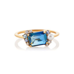 Tourmaline Gold Bubble Ring (M)