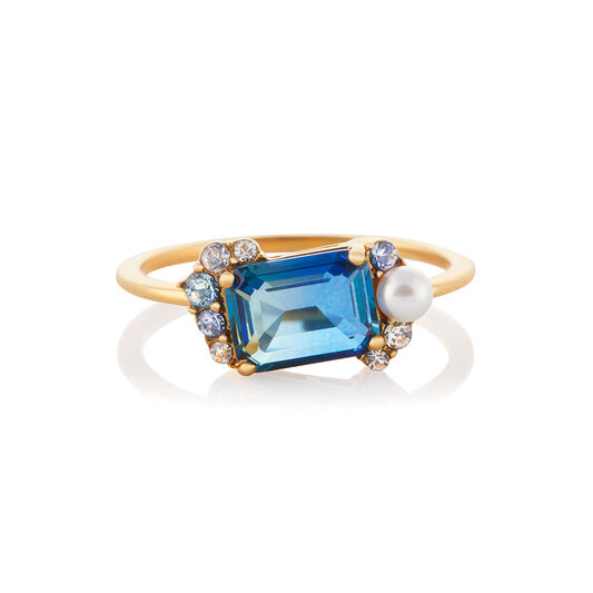 Tourmaline Gold Bubble Ring (M)
