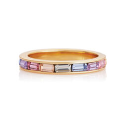 Rainbow Baguette Ring Gold (L)