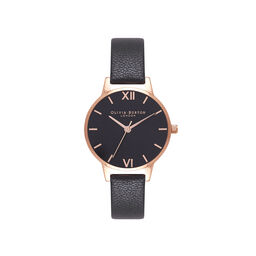Black & Rose Gold Watch