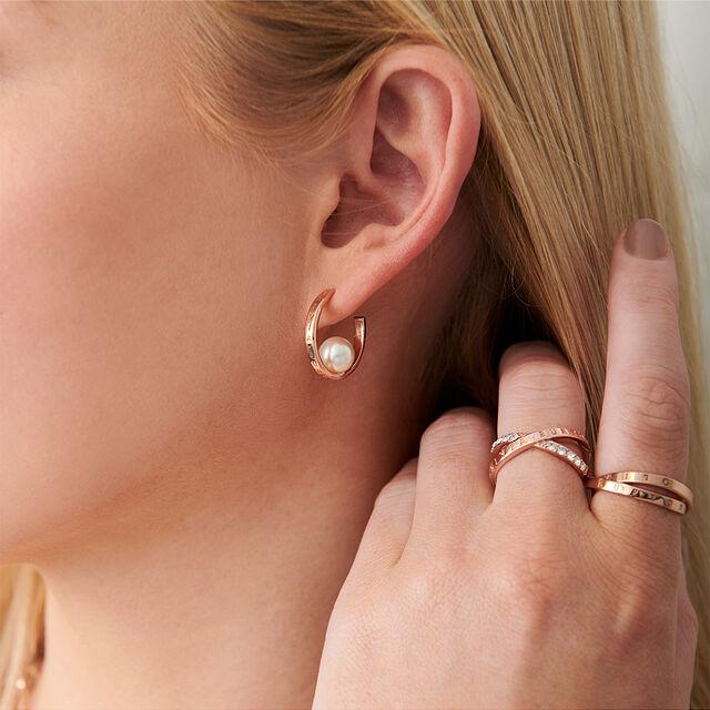 The Classics Rose Gold Pearl Hoop