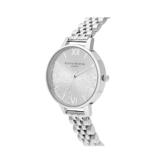 Bejewelled Lace Silver Watch