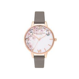 Pretty Blossom Grey & Rose Gold Watch