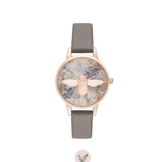 3D Bee Vegan Grey & Rose Gold Watch