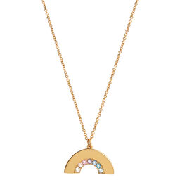 Rainbow Necklace Gold