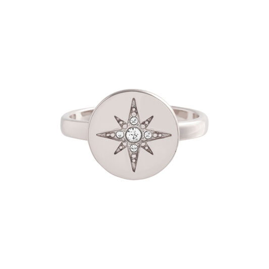 Bague Noth Star opale et argent à disque