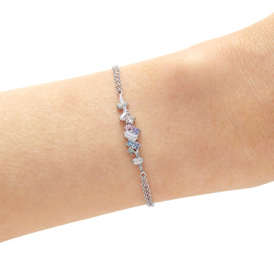 Rainbow Bee Silver Bracelet