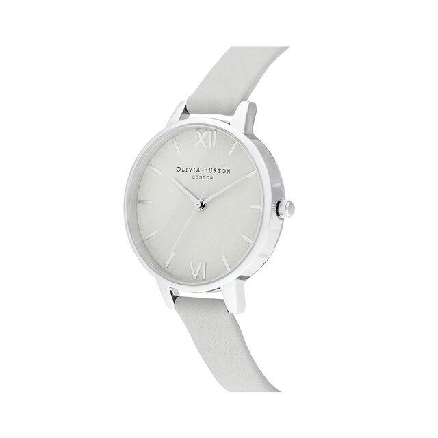 Woven Dial Grey & Silver Watch