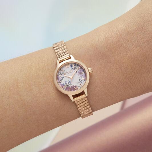 British Blooms Mini Dial Rose Gold Bracelet Watch