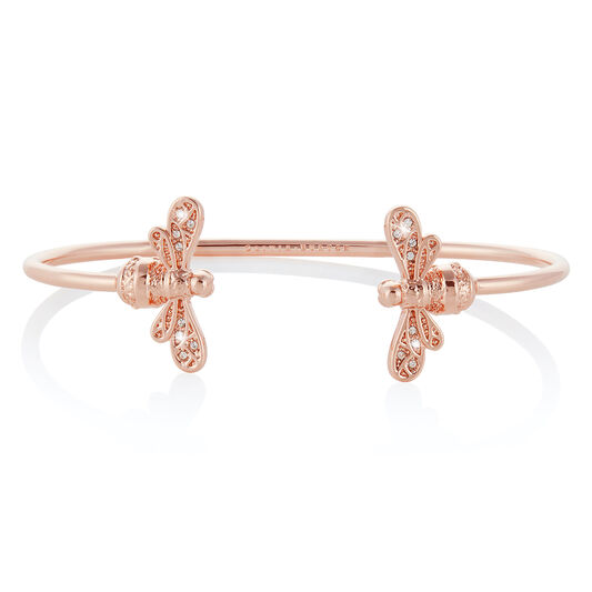 Sparkle Bee Rose Gold Bangle