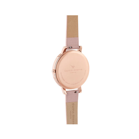 Painterly Prints Pink & Rose Gold Watch