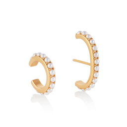 The Classics Gold Pearl Ear Cuff Set