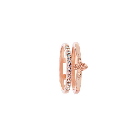 Rainbow Bee Ring Rose Gold (S)