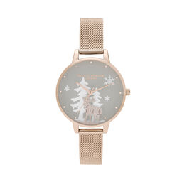 Winter Wonderland Pale Rose Gold Mesh